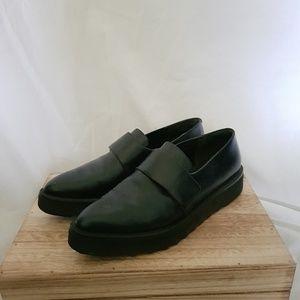 Vince Ames Arden Platform Loafer Black Leather 7